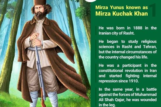 Collection of posters: Mirza Yunus known as Mīrzā Kūchak Khān