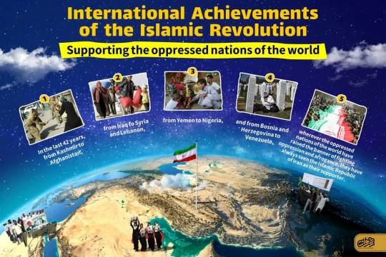 International Achievements of the Islamic Revolution : Supporting the oppressed nations of the world