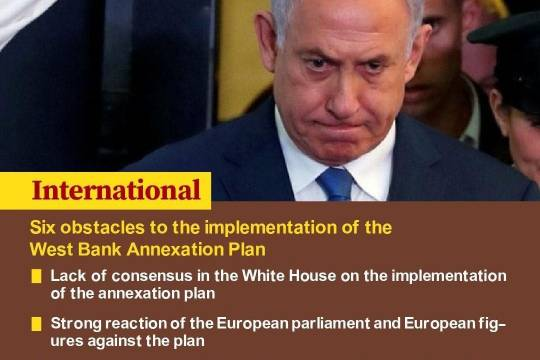 Six obstacles to the implementation of the West Bank Annexation Plan 6