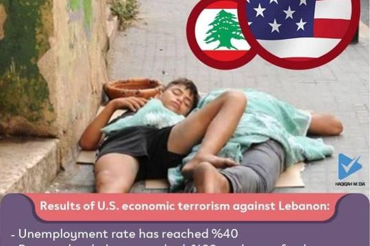 Results of U.S. economic terrorism against Lebanon