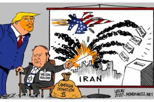 Collection of caricature: Israel has been pressuring the US for a war with Iran since a long time!