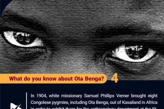 What do you know about Ota Benga? 4