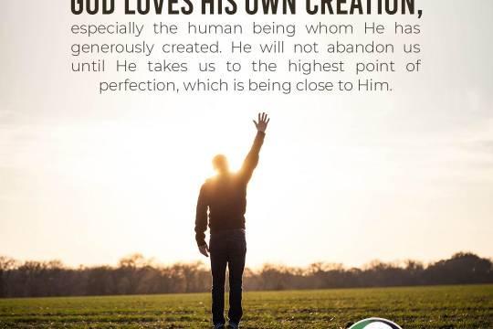 God loves His own creation