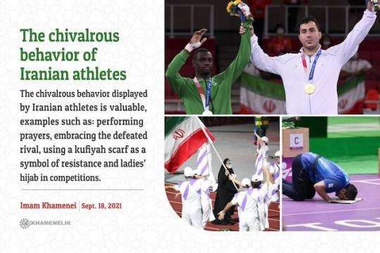 The chivalrous behavior of Iranian athletes