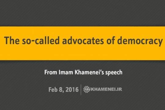 The so-called advocates of democracy