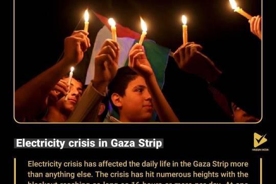 Electricity crisis in Gaza Strip